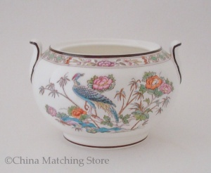 Kutani Crane - Lidded Sugar Bowl - Base Only