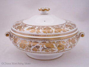 Gold Damask - Lidded Vegetable Tureen