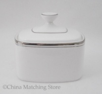 Platinum Concord - Lidded Sugar Bowl