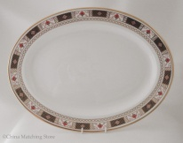 Derby Border - Oval Platter