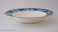 Blue Siam - Rimmed Bowl